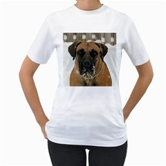 Boerboel  Women s T-Shirt (White) (Two Sided)