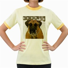 Boerboel  Women s Fitted Ringer T-Shirts