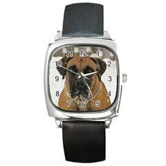 Boerboel  Square Metal Watch