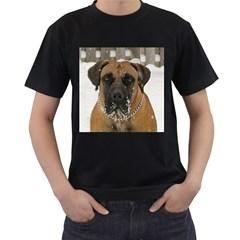 Boerboel  Men s T-Shirt (Black) (Two Sided)