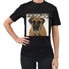 Boerboel  Women s T-Shirt (Black) (Two Sided)