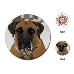 Boerboel  Playing Cards (Round)
