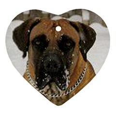 Boerboel  Heart Ornament (2 Sides)