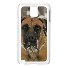 Boerboel  Samsung Galaxy Note 3 N9005 Case (White)