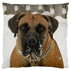 Boerboel  Large Flano Cushion Case (One Side)