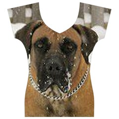Boerboel  Women s V-Neck Cap Sleeve Top