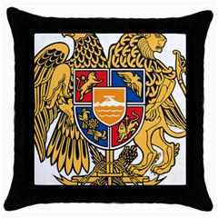 Coat of Arms of Armenia Throw Pillow Case (Black)
