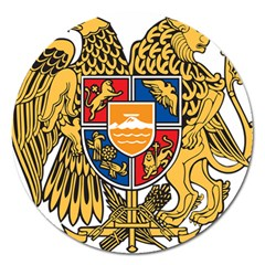 Coat of Arms of Armenia Magnet 5  (Round)