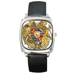 Coat of Arms of Armenia Square Metal Watch