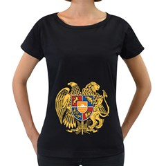 Coat of Arms of Armenia Women s Loose-Fit T-Shirt (Black)