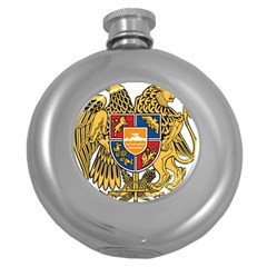Coat of Arms of Armenia Round Hip Flask (5 oz)