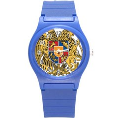 Coat of Arms of Armenia Round Plastic Sport Watch (S)