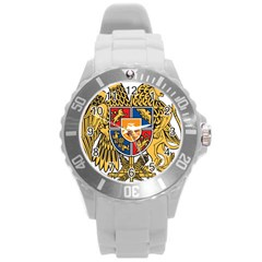Coat of Arms of Armenia Round Plastic Sport Watch (L)