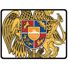 Coat of Arms of Armenia Double Sided Fleece Blanket (Large)