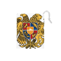 Coat of Arms of Armenia Drawstring Pouches (Small)