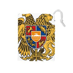 Coat of Arms of Armenia Drawstring Pouches (Medium)