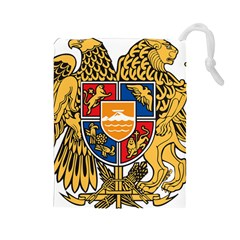 Coat of Arms of Armenia Drawstring Pouches (Large)