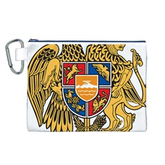 Coat of Arms of Armenia Canvas Cosmetic Bag (L)