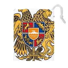 Coat of Arms of Armenia Drawstring Pouches (Extra Large)