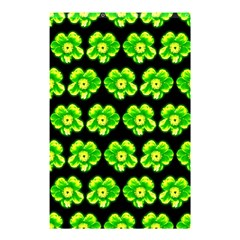 Green Yellow Flower Pattern On Dark Green Shower Curtain 48  x 72  (Small)
