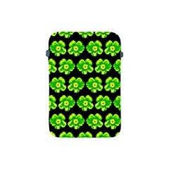 Green Yellow Flower Pattern On Dark Green Apple iPad Mini Protective Soft Cases