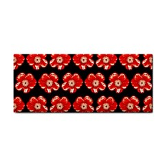 Red  Flower Pattern On Brown Cosmetic Storage Cases