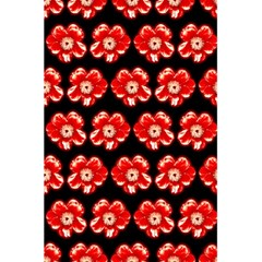 Red  Flower Pattern On Brown 5.5  x 8.5  Notebooks