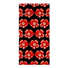 Red  Flower Pattern On Brown Shower Curtain 36  x 72  (Stall)