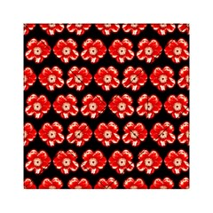 Red  Flower Pattern On Brown Acrylic Tangram Puzzle (6  x 6 )
