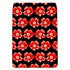 Red  Flower Pattern On Brown Flap Covers (S)
