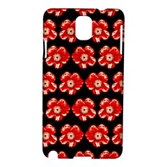 Red  Flower Pattern On Brown Samsung Galaxy Note 3 N9005 Hardshell Case