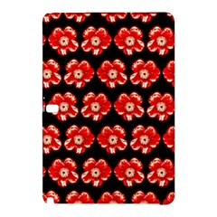 Red  Flower Pattern On Brown Samsung Galaxy Tab Pro 12.2 Hardshell Case