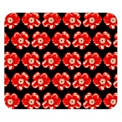 Red  Flower Pattern On Brown Double Sided Flano Blanket (Small)