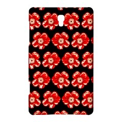 Red  Flower Pattern On Brown Samsung Galaxy Tab S (8.4 ) Hardshell Case