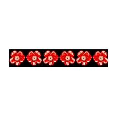 Red  Flower Pattern On Brown Flano Scarf (Mini)