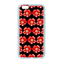 Red  Flower Pattern On Brown Apple Seamless iPhone 6/6S Case (Color)