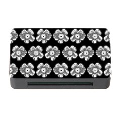 White Gray Flower Pattern On Black Memory Card Reader with CF