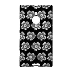 White Gray Flower Pattern On Black Nokia Lumia 1520
