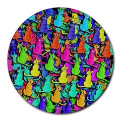 Colorful cats Round Mousepads