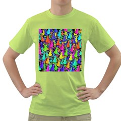 Colorful cats Green T-Shirt