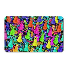 Colorful cats Magnet (Rectangular)