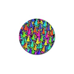Colorful cats Golf Ball Marker