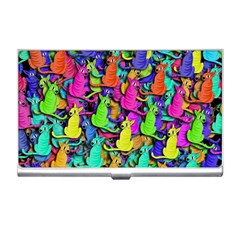 Colorful cats Business Card Holders