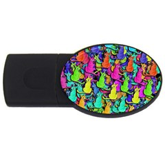Colorful cats USB Flash Drive Oval (2 GB)