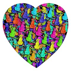 Colorful cats Jigsaw Puzzle (Heart)