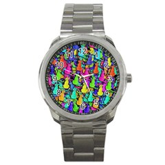 Colorful cats Sport Metal Watch
