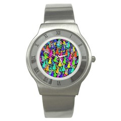 Colorful cats Stainless Steel Watch