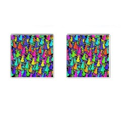Colorful cats Cufflinks (Square)