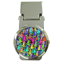 Colorful cats Money Clip Watches