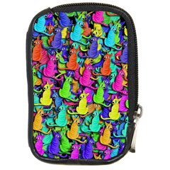 Colorful cats Compact Camera Cases